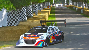 Goodwood Festival of Speed 2014 Peugeot 208 Loeb record attempt