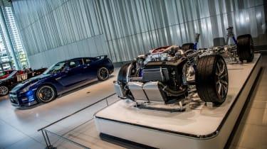 Nissan GT-R cutaway model