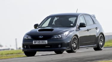 Subaru Impreza Cosworth CS400 on track