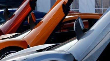 McLaren MP4-12C gullwing door up