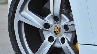 2013 Porsche Cayman S white alloy wheel