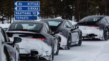 Porsche 911 final testing - snow