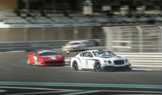 Bentley Continental GT3 race debut report Yas Marina
