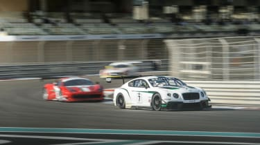 Bentley Continental GT3 race debut report Yas Marina