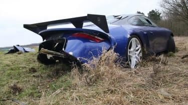 crashed 9ff GT9R low rear2