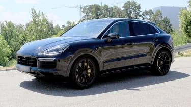 Porsche Cayenne Coupe spy - side