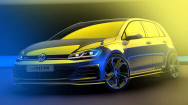 Golf GTi TCR front sketch
