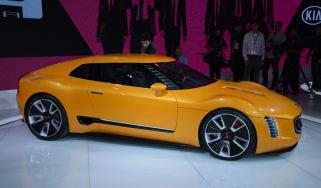 Kia GT4 Stinger concept car live detroit show pics