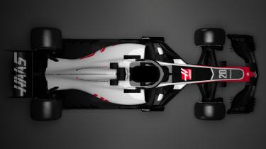 HAAS F1 car - top
