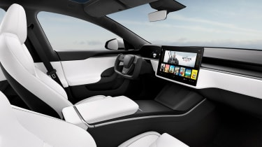 Tesla Model S Plaid interior