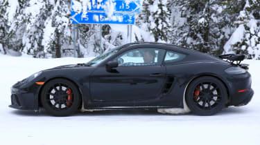 Porsche 718 Cayman GT4 spy - profile