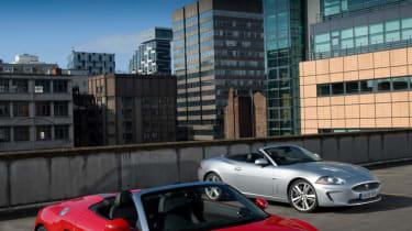 Audi R8 Spyder and Jaguar XKR