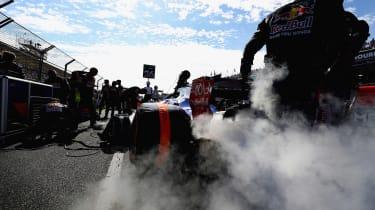 Toro Rosso pits shot