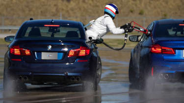 BMW M5 drift attempt - rear