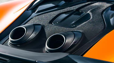 McLaren 600LT first drive - exhaust