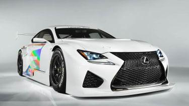 Lexus RC-F GT3 racing car front view