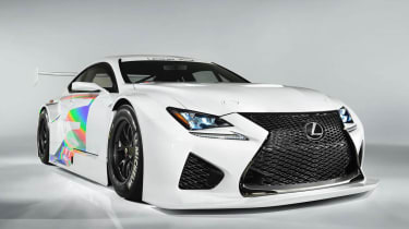 Lexus RC-F GT3 racing car front view