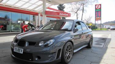 Revolution Subaru Impreza Project STI Nurburgring petrol station