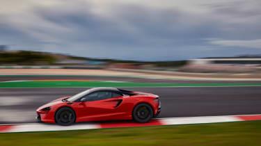 McLaren Artura revealed - orange cornering