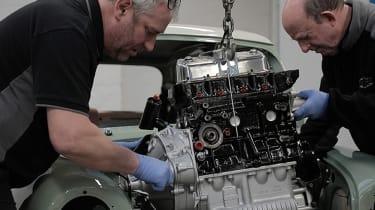 David Brown Automotive Mini Remastered engine install