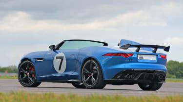 Jaguar F-type Project 7 blue rear