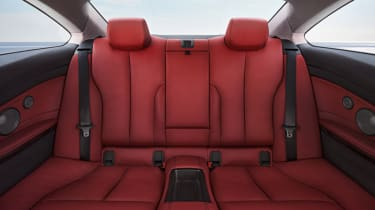 New BMW 4-series coupe rear seats red leather