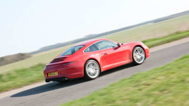 2012 Porsche 911 Carrera manual cornering