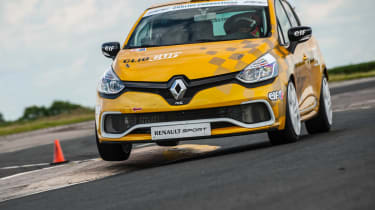 Renault Clio Cup racer on track