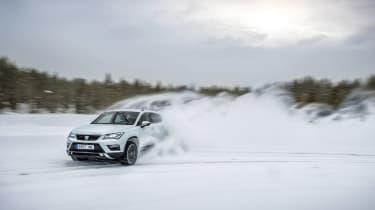 SEAT Ateca snow action drift