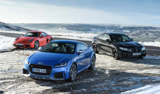 Audi TT RS group test header