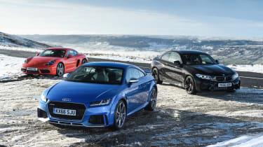Audi TT RS group test header