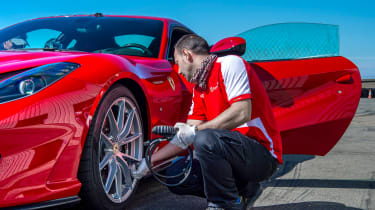 Ferrari 812 Superfast Anglesey - tyres