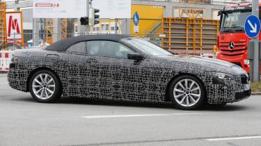 BMW 8-series Cabriolet spied - profile