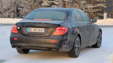 Updated 2019 Mercedes E-class spied – rear quarter