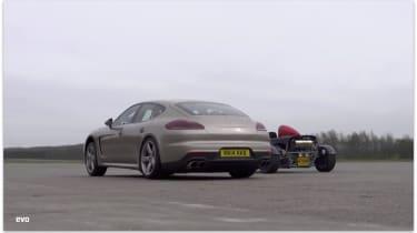 Porsche Panamera Turbo S v Ariel Atom: drag race