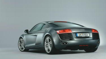 Audi R8 rear three quarter