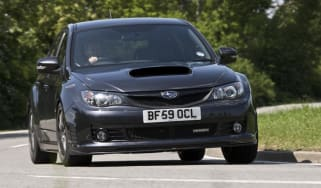 Subaru Impreza Cosworth CS400 road corner