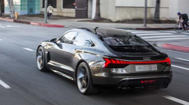Audi e-tron GT Concept drive - rear quarter