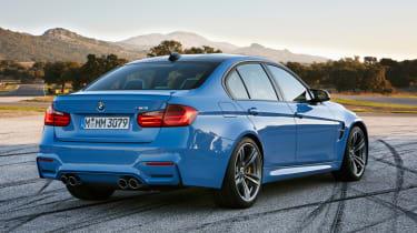 New BMW M3 saloon blue