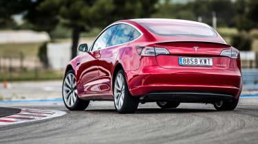 Tesla Model 3 rear slide