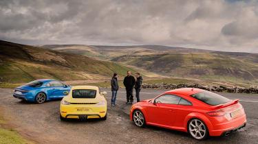 evo Supertest A110 vs rivals - standing around
