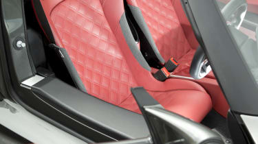 Lotus Exige S Roadster red sports seats