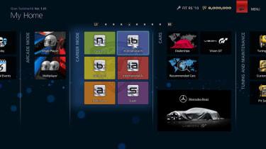 Gran Turismo 6 home main menu screen