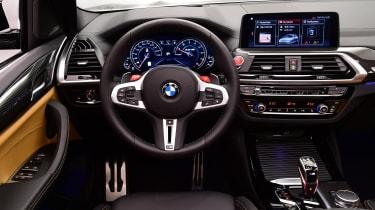 BMW X3 M interior steering wheel