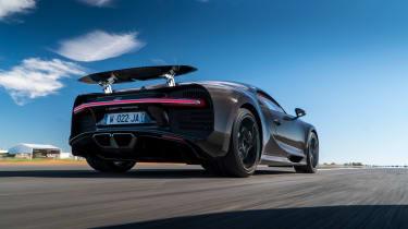 Bugatti Chiron black - rear driving