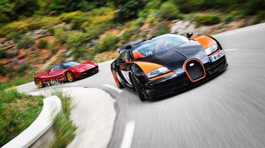 Pagani Huayra vs Bugatti Veyron Vitesse supercar video