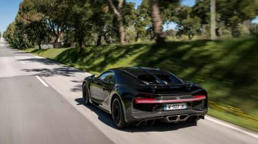 Bugatti Chiron black - rear