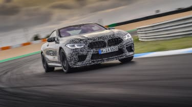 BMW M8 prototype - front driving