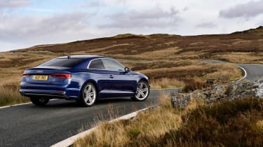 Audi A5 coupe blue - rear static