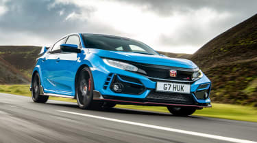 Best hot hatchbacks 2021 - Civic Type R tracking